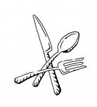 Нож ложка и вилка Раскраски для детей мальчиков