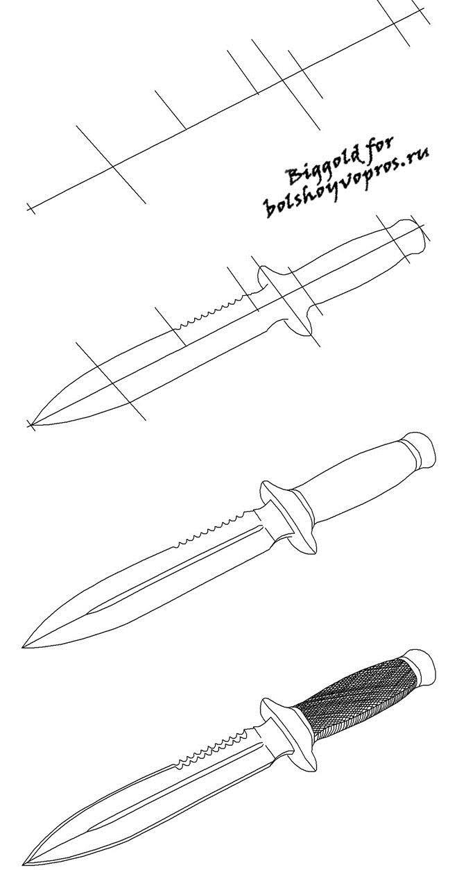 Ножи раскраска Раскраски для детей мальчиков