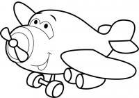 Добрый самолетик Раскрашивать раскраски для мальчиков