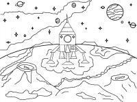 Корабль на марсе Распечатать раскраски для мальчиков