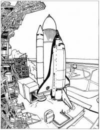 Космический аппарат Распечатать раскраски для мальчиков