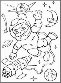 С днем космонавтики Распечатать раскраски для мальчиков