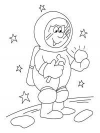 Космонавт исследует новую планету Раскрашивать раскраски для мальчиков