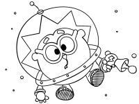 Смешарик в космосе Раскрашивать раскраски для мальчиков