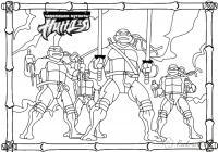 Черепашки мутанты ниндзя раскраска Раскраски для детей мальчиков