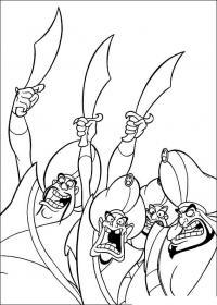 Разбойники с меччами Раскраски для мальчиков