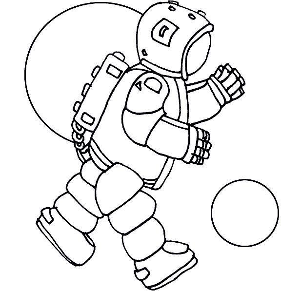 Космонавт в невесомости Распечатать раскраски для мальчиков