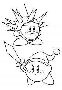 Колобок  с мечом и в шлеме Раскраски для мальчиков