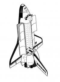 Космонавтика шаттл Распечатать раскраски для мальчиков
