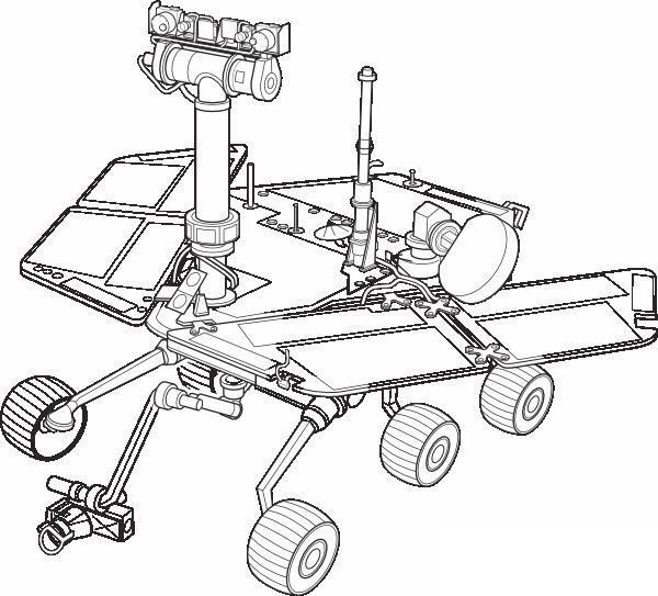 День космонавтики луноход Раскрашивать раскраски для мальчиков