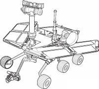 День космонавтики луноход Распечатать раскраски для мальчиков