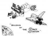 Строительство космической станции Раскрашивать раскраски для мальчиков