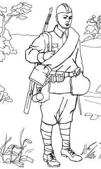 9 мая советский солдат Раскраски для мальчиков