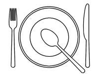Нож вилка ложка и тарелка Раскраски для детей мальчиков