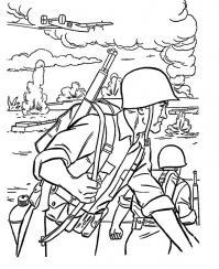 Великая отечественная война Раскраски для мальчиков