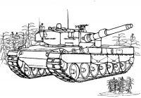 Большой мощный танк Раскраски для мальчиков бесплатно