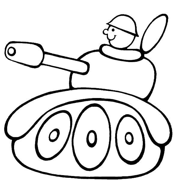 Солдат в танчике Раскраски для мальчиков бесплатно