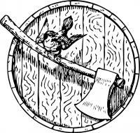 Топор с щитом Раскраски для детей мальчиков