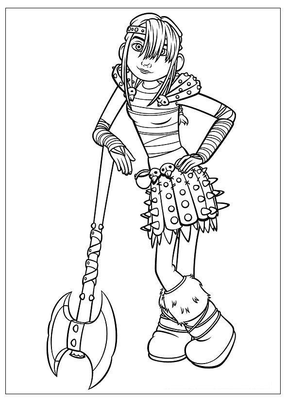 Девушка с топором Раскрашивать раскраски для мальчиков