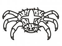 Сердитый паук Раскрашивать раскраски для мальчиков