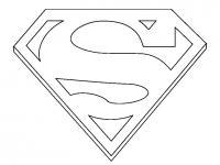 Логотип супермена Раскраски для мальчиков
