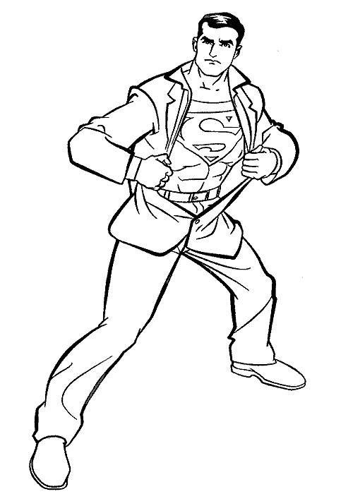 Супермен маскируется под обычного человека Раскраски для мальчиков
