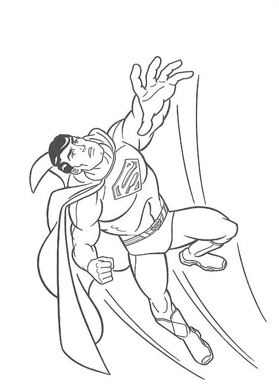 Супермен полетел Раскраски для мальчиков