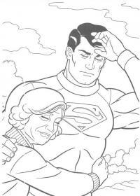Супермен спас бабушку Раскраски для мальчиков