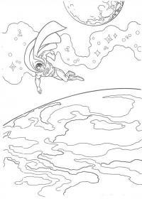 Супермен в космосе Раскраски для мальчиков