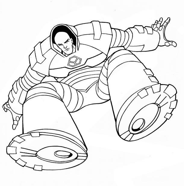 Человек в экзоскелете Раскраски для детей мальчиков