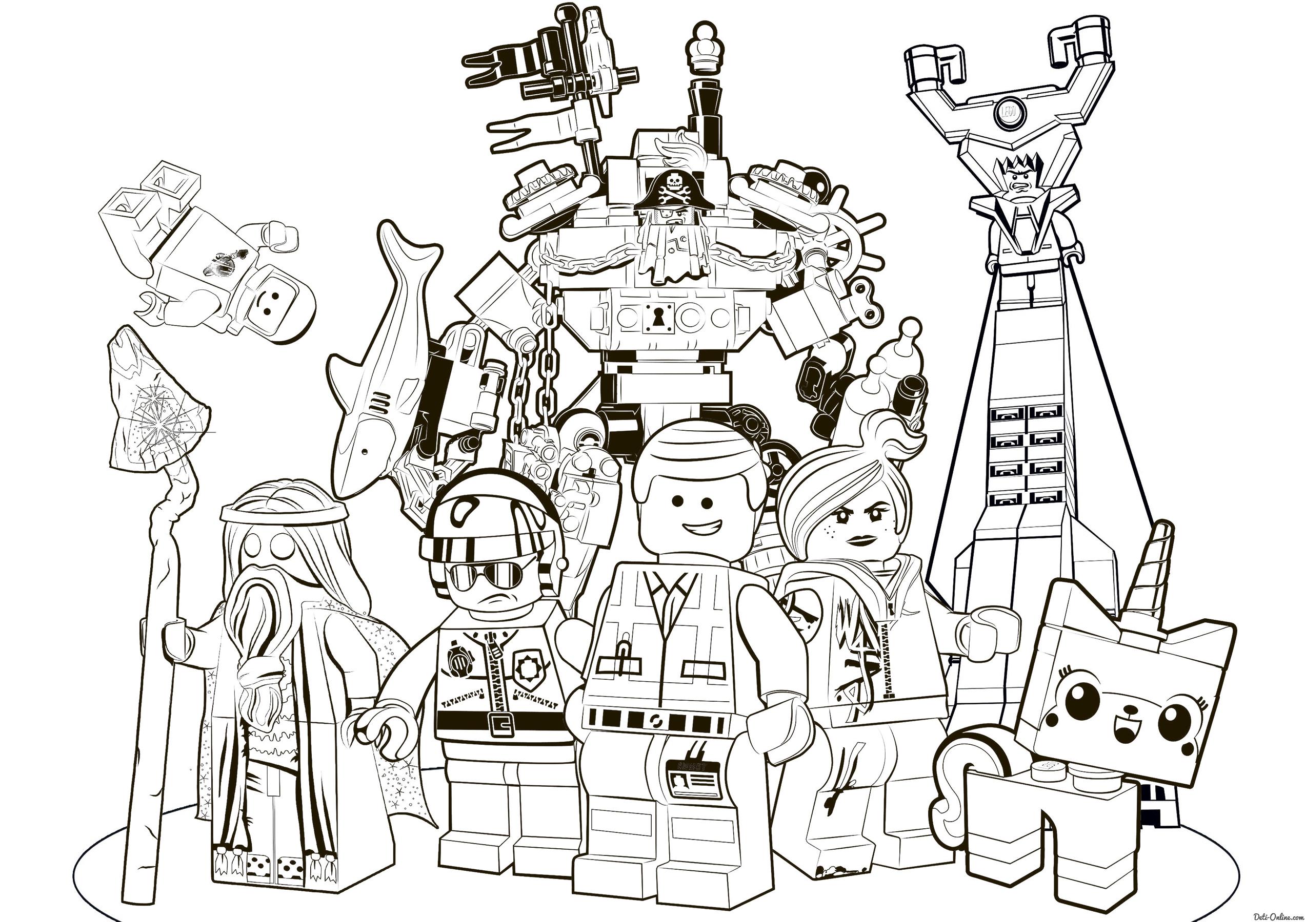 Лего толпа из мультиков Раскраски для мальчиков