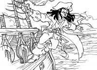 Пират на корабле Раскраски для детей мальчиков
