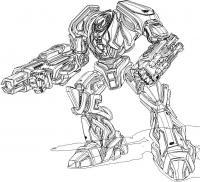 Огромный робот Раскраски для детей мальчиков