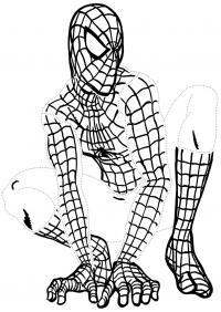 Человек паук обведи по точкам Раскраски для мальчиков
