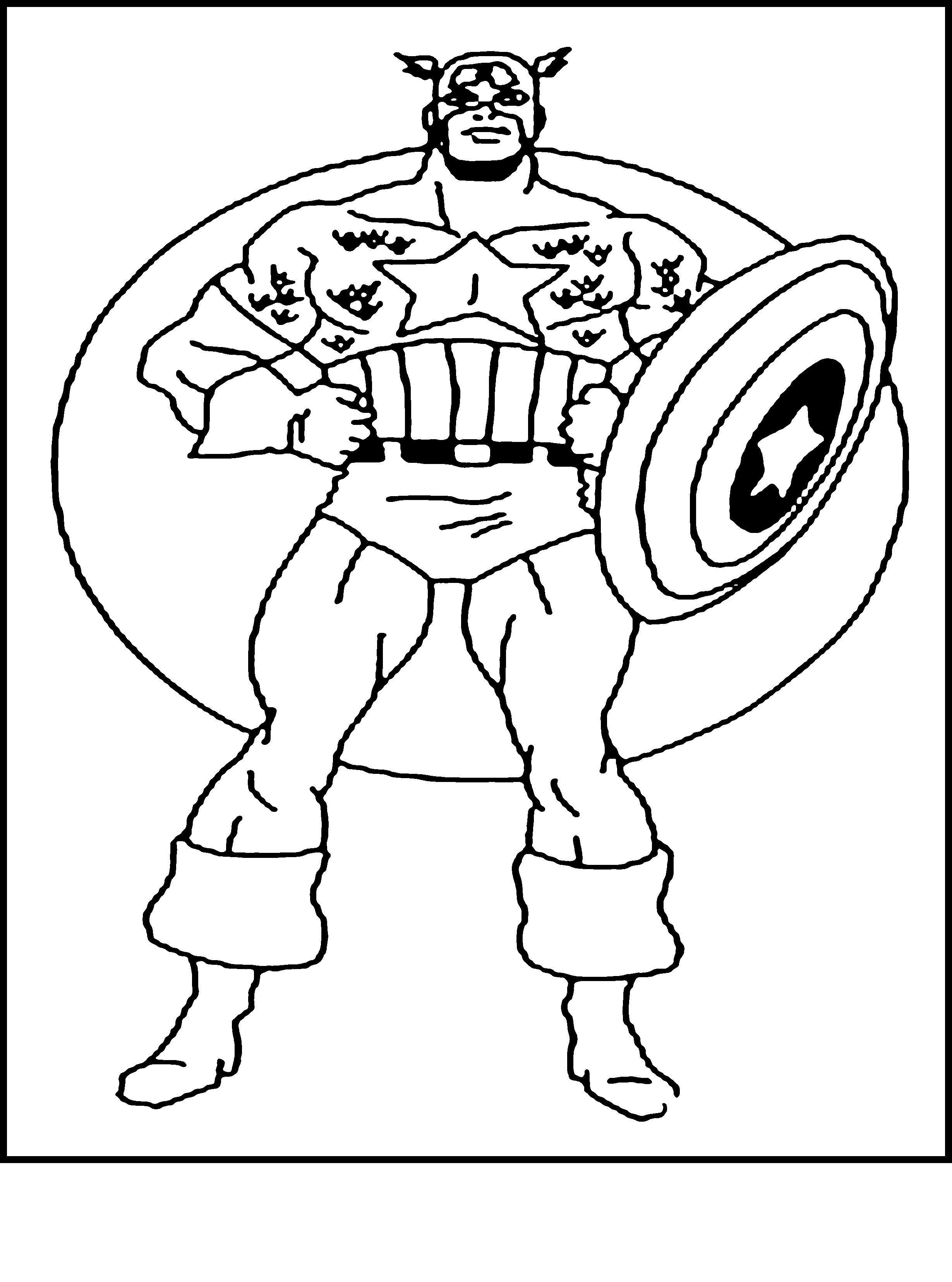 Капитан америка в костюме Распечатать раскраски для мальчиков