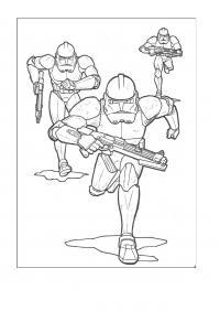 Звездные войны солдаты Раскраски для мальчиков бесплатно