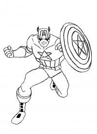 Капитан америка Распечатать раскраски для мальчиков