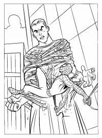 Человек паук и песочный человек Раскраски для мальчиков