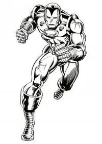 Железный человек бежит Раскраски для мальчиков