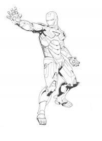 Железный человек в броне Раскраски для мальчиков