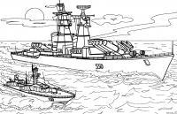 Военный корабль Скачать раскраски для мальчиков