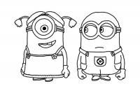 Миньоны девочка и мальчик Раскраски для детей мальчиков