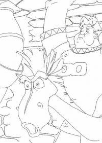 Фрагмент из мультфильма три богатыря Скачать раскраски для мальчиков
