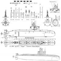 Подводная лодка и ее боекомплект Скачать раскраски для мальчиков