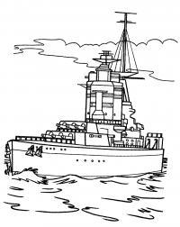 Военное судно Скачать раскраски для мальчиков