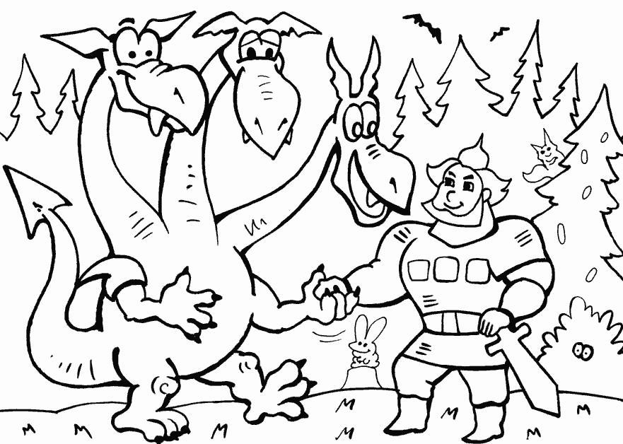 Добрыня и змей горыныч Скачать раскраски для мальчиков
