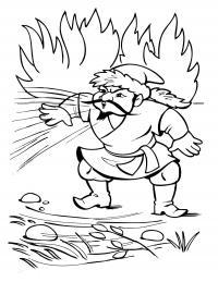 Соловей разбойник Раскраски для детей мальчиков