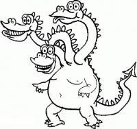 Забавный змей горыныч Раскраски для мальчиков