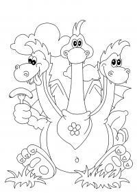 Змей горыныч ест сосиски Раскраски для мальчиков