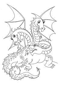 Змей горыныч с пламенем Раскраски для мальчиков